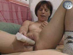 Frau mit vibrator